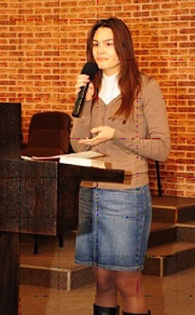 Mihaela speaking