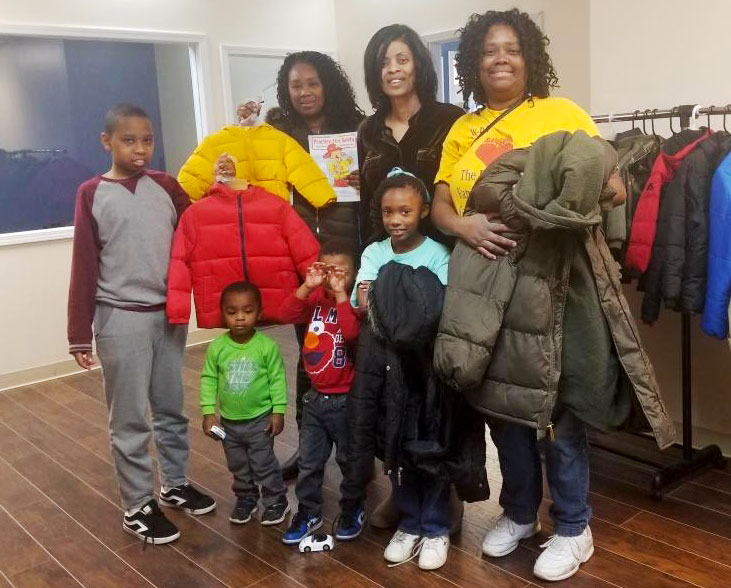 Matteson Single Moms' Winter Coat Distribution